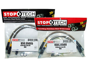 Stoptech Stainless Steel Braided Brake Lines front Rear Set 35005 35500