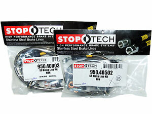 Stoptech Stainless Steel Braided Brake Lines Front Rear Set 40003 40502