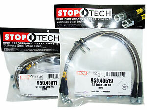 Stoptech Stainless Steel Braided Brake Lines Front Rear Set 40011 40519