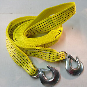 2 X20 Tow Strap Rope W Hooks Emergency Towing Strap 10 000 Lb Free Shipping