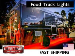 Mobile Food Cart Food Truck Catering Concession Trailer Led Lighting Kit Video