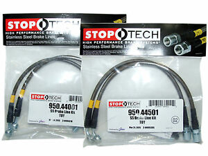 Stoptech Stainless Steel Braided Brake Lines front Rear Set 44001 44501