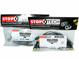 Stoptech Stainless Steel Braided Brake Lines Front Rear Set 47005 47505
