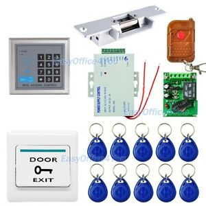 Proximity Rfid Keyfobs One Door Access Control Machine Kit Electric Strike Lock