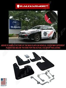 Rally Armor Black Mud Flaps W Grey Logo For 08 14 Sti Hb 11 14 Wrx Hatchback