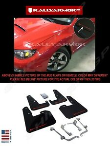 Rally Armor Black Mud Flaps W Red Logo For 08 14 Sti Hb 11 14 Wrx Hatchback
