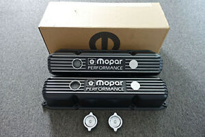 Mopar Performance 361 383 400 440 V8 Big Block Black Cast Aluminum Valve Covers