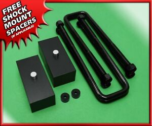 For 99 20 Toyota Tundra 1 5 Inch Rear Lift Kit Billet Blocks U Bolts 2wd 4wd