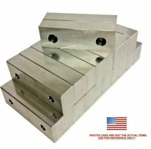 10 Pack 6x2x1 Machined Aluminum Soft Jaws Kurt 6 Vises 6 X 2 X 1 Free Ship