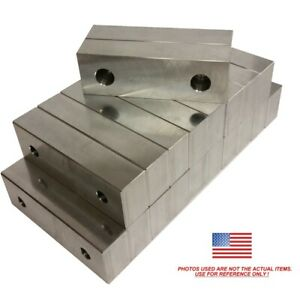 10pack 6 X 2 X 1 25 Machined Aluminum Vise Soft Jaws For Kurt 6 Vises Free Ship
