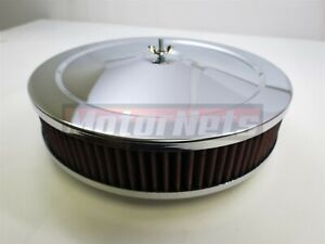 10 Air Cleaner Chrome Muscle Car Washable 4 Bbl Barrel Hot Rat Street Rod 350