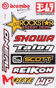New Rockstar Energy Yoshimura Motocross Racing Graphic Stickers decals st20