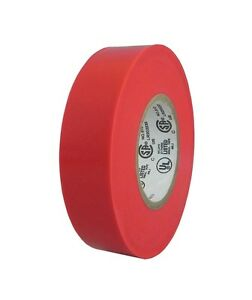 Tapessupply 100 Rolls Red Electrical Tape 3 4 X 66 Ft full Case
