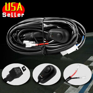 Wiring Harness Switch Relay Kit For Connect 2 Led Work Driving Light Bar 4wd