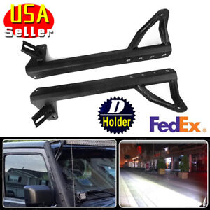 For Jeep 04 14 Pickling Plate Windshield Mounting Brackets Led Light Bar Steady