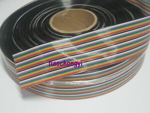 2m 6 56ft Of 40 Way Flat Color Rainbow Ribbon Idc Cable Wire For Arduino Diy