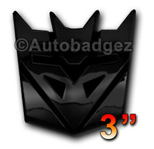 1 New Black Transformers Decepticons Badge Emblem 3 Gloss Black