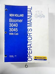 New Holland Boomer 3040 3045 With Cab Tractor Operator s Owner s Manual 4 08
