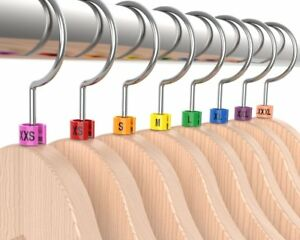 Colored Hanger Sizer Garment Markers xxs 5xl plastic Size Marker Tags All Sizes