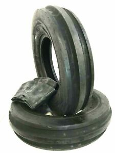 Two 650 16 Farmall 756 6 Ply Rated Tractor Tires F2 3 Rib W tubes