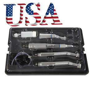 Dental Nsk Style Pana Max High Low Speed Handpiece Kit 4 Hole Fast Usa To Usa