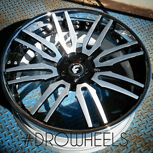 24 Forgiato Concave Staggered 5x112 Bentley Gt Mercedes Maybach Audi A8