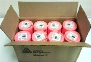 Genuine Monarch 1130 Fluorescent Red Labels One Box