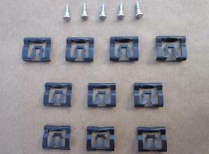 10 Nos Window Reveal Molding Clips 5 Special Screws Mustang Torino 41 89pw