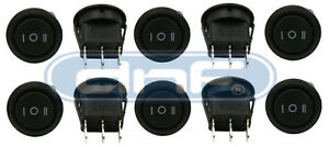 10 Pack 6a 250v 10a 125v On off on 3 Position Mini Round Rocker Switch 12v Spdt
