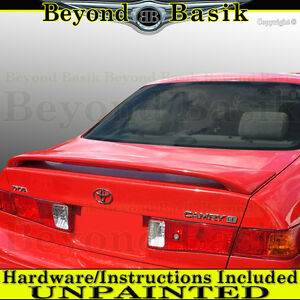 For 1997 1998 1999 2000 2001 Toyota Camry Factory Style Spoiler W led Unpainted