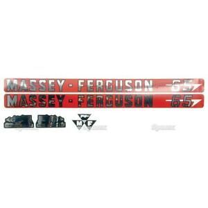 Massey ferguson Mf 65 Mf65 Tractor Basic Decal Set