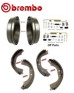 2 Brembo Rear Brake Drums Enduro Shoe Hardware Kit Toyota 4runner Tacoma Pre