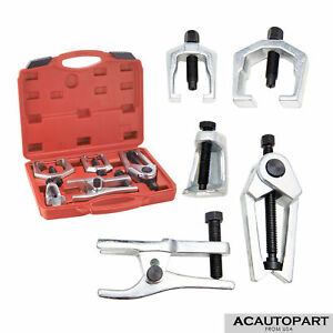 6pc Pitman Arm Puller Ball Joint Separator Tie Rod Front End Service Tool Kit