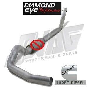 Diamond Eye Performance Straight Piped 4 Exhaust For 94 02 Cummins 5 9l 5 9
