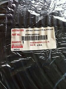 2005 2006 2007 Toyota Tacoma All Weather Oem 2 Piece Rubber Floor Mats