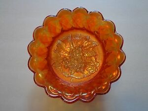 Fenton Antique Carnival Glass Marigold Bowl