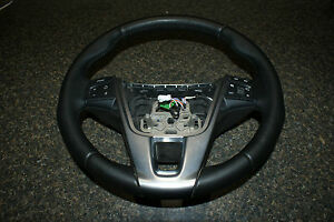 2014 Volvo S60 Black Leather Steering Wheel