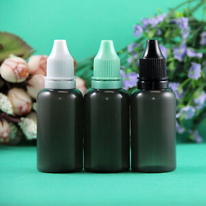10ml 30ml Tamper Proof Ldpe Plastic Black Dropper Bottle 300pcs Per Lot Squeeze