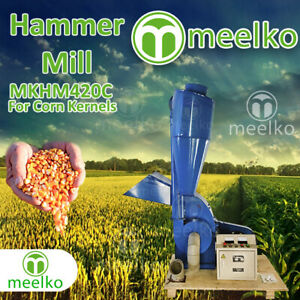 Electric Hammer Mill For Corn Kernels With Cyclone Mkhm420c Free Shipping