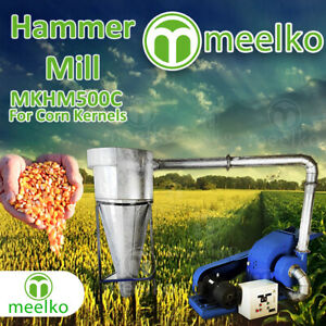Electric Hammer Mill For Corn Kernels With Cyclone Mkhm500c Free Shipping