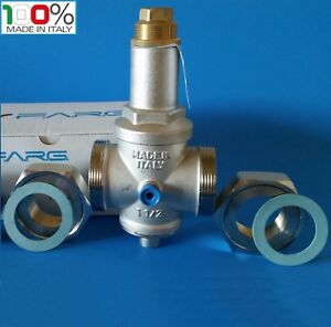 Water Pressure Reducing Valve 11 2 Npt Threaded Double Union made In Italy