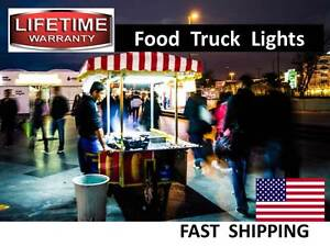 Box Truck Food Truck Concession Trailer Hot Dog Cart Led Lighting New Neon