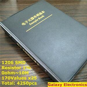 1206 1 Smd Smt Chip Resistors Assortment Kit 170values X25 Assorted Sample Book