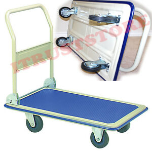 Portable Folded Folding Platform Flatbed Flat Hand Truck Cart Wagon Haul Hauler