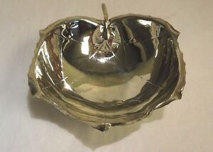 Beautiful Sterling Silver Sciarrotta Footed Hand Made Leaf Bowl H51