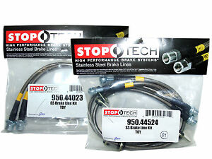 Stoptech Stainless Steel Braided Brake Lines front Rear Set 44023 44524