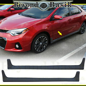 For 14 15 16 17 2018 2019 Toyota Corolla Factory Style Side Skirts 2pc Body Kit