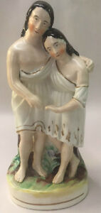 Staffordshire Figurine Two Woman 8 Mother Daughter Ladies