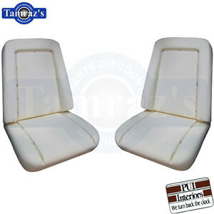 1969 1970 Chevy Pickup Truck Front Bucket Seat Buns Foam Cushion Pair Pui New