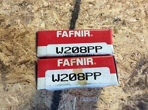2 fafnir Ball Bearings W208pp Nos Boxes Show Wear 30 Day Warranty